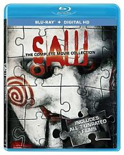 Saw 1, 2, 3, 4, 5, 6 & 7 (The Final Chapter) blu ray 7 movie Collection