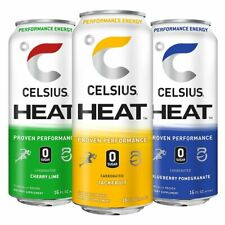HEAT Energy Drink by Celsius (12 Cans) - All Flavors & FREE Shipping Best Deal