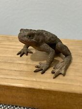 European Cold Painted Bronze Frog Figurine Unknown Age
