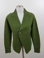 royal robbins S green button front cardigan sweater wool blend long sleeve women