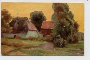Niedersachsen-Gehöft Künstler-AK feldpgl1915 30.346
