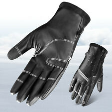 Men Winter Leather Warm Gloves Touch Screen Hand Warmer Snow Ski Driving Mitten