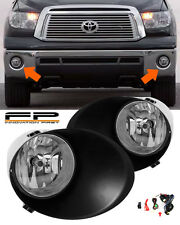 07-13 Toyota Tundra Clear Fog Lights Lamp Full Complete Kit (Metal Bumper Only)