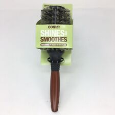 Conair Shines and Smoothes Ceramic Wood Boar Bristles Brush #82613T17