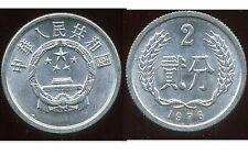 CHINE  2 fen 1976