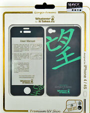 Whatever It Takes Giorgio Armani Front / Back Protective Skin for iPhone 4 / 4S