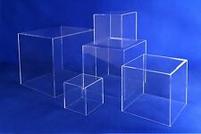 """ACRYLIC 5 SIDED DISPLAY CASE CUBE 3/16""""THICK 10"""" X 10"""" X 10"""""""