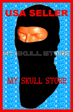 BLACK COTTON SKI MASK BALACLAVA USA MADE Adult Hood FULL Face NINJA SWAT HAT CAP