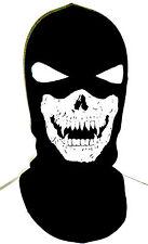 GHOST SKULL BalaCLAVA MASK Ninja Ski SWAT FULL FACE 2 EYES HOOD HELMET LINER LG