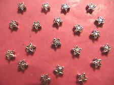 Estrella De Plata Tibetana Cuentas 6mm 20 por paquete