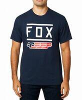 Fox Mens T-Shirt Blue Size 2XL Graphic Logo Crewneck Short Sleeve Tee $22 #057