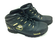 Timberland 90969 Euro Sprint  Junior Leather Boots-Black Size 5.5 US.