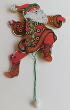Midwest of Canon Falls Mary Engelbreit Pull String Puppet Santa Claus Ornament