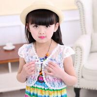 Children Infant Girl Bolero Jacket Wedding Short Outerwea Summer Lace Shawl Coat