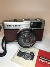 OLYMPUS TRIP 35 (1979) Manual 35mm Camera Brown Leather Refurbished Fully Tested