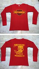 Vintage Harley Davidson Long Sleeve Shirt Men Small Shirt Henley Engine 70s 80s