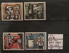 BRD 1957 Wohlfahrt: Kohlebergbau MiNr. 270 - 273 postfrisch