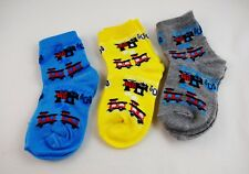 Train Socks Toddler Set Of 3 Pairs Choo Choo Size 3 To 4 1/2 Colorful