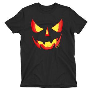 Evil Pumpkin T-Shirt HALLOWEEN Party Funny Womens Mens ORGANIC Spooky Costume
