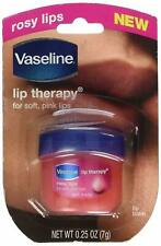 (3) NEW Vaseline Rosy Lips Lip Therapy For Soft Pink Lips 0.25Oz Each