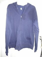 SB Active Sweatshirt Size Large Dark Blue Cotton Poly Zip Front Long Sleeve
