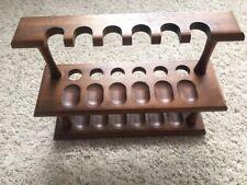 Vintage DECO Decatur Genuine Walnut 12 Tobacco Pipe Stand Holder Wooden Rack