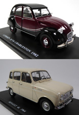 Lot de 2 Voitures Miniatures Citroën 2CV + Renault 4L - Echelle 1/24 Model Car