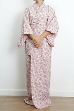 Authentic traditional vintage Japanese chirimen silk kimono