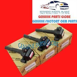 GENUINE OEM TOYOTA 3.4L V6 4RUNNER TACOMA TUNDRA T100 IGNITION COIL SET OF 3