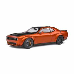 Solido Soli1805703 Dodge Challenger SRT Widebody – Orange Metallic – 2020 1/18