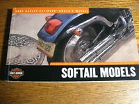 2002 Harley-Davidson Softail Owner's Owners Manual Xlnt