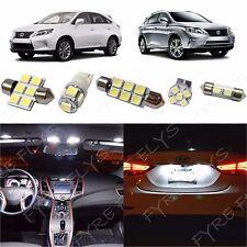 15 Piece White LED interior conversion kit for 2010-2014 Lexus RX350 RX450h LR3W