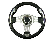 * SILVER V1 SPORTS STEERING WHEEL 330mm 6x70mm will fit Momo OMP Sparco boss kit