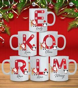Personalised Initial Name Christmas Mug Custom Santa Special Tea Coffee Xmas