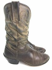 Women's Durango Brown RD542 Distressed Slouch soft Leather Cowboy Boots Size 7.5