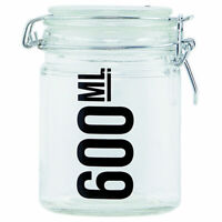 Decorative Preserving Storage Sweet Candy Glass Jar Container with Lid 600 ml...