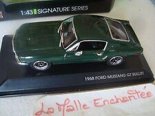 1968 FORD MUSTANG GT 2 + 2 FASBACK  Mc Queen Bullitt  1/43 YAT MING SOUS PLEXI