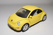 X 1:18 BBURAGO BURAGO VW VOLKSWAGEN NEW BEETLE KAFER YELLOW EXCELLENT CONDITION