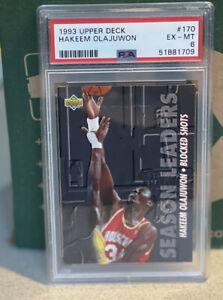 1993-94 Upper Deck Season Leaders #170 Hakeem Olajuwon PSA 6 EX-MT Rockets