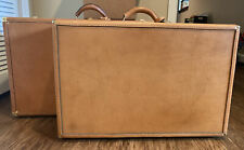 TWO EXCELLENT CONDITION Vintage Wings Luggage Flight Suitcase Brown