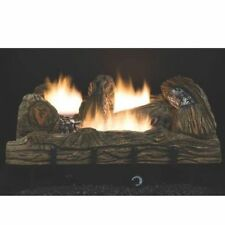 "NEW COMFORT GLOW CF2436NT 24"" NATURAL GAS LOGS SET VENT FREE THERMOSTAT 6955801"