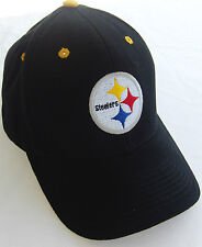 NEW NFL Team Pittsburgh Football Steelers Logo Hat Ball Cap Black Adult one size