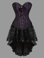 Women Retro Dress Gothic Vintage Corset Strapless Ribbon Lace Up Party Dress 6XL