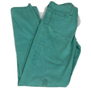 Justice Premium Shine Brite Jeans Size 12R Simply Low Green Distressed