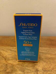 Suncare Shiseido unisex EXPERT SUN protector cream SPF50+ 50 ml Wetforce antiage