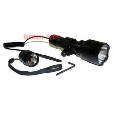 Ultrafire Tactical C8 CREE XM-L L2 LED 1Mode 1200LM Flashlight + Pressure Switch