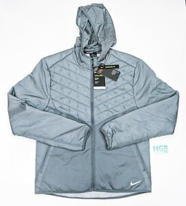 Nike Aerolayer Thermore Jacket Men's Lightweight Reflective Gym Grey CU5388-084