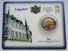Luxemburg / Luxembourg speciale 2 euro 2005 Henri & Adolphe BU in Coincard