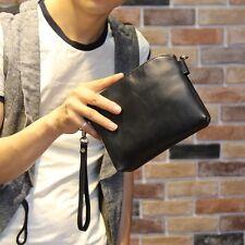 Clutch Bag Handbag Men's  Faux Leather Business Briefcase Wallet Purse Black