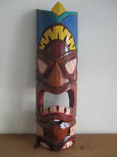 Fair Trade Hand Carved Wooden Tiki Mask Wall Hanging Design #19